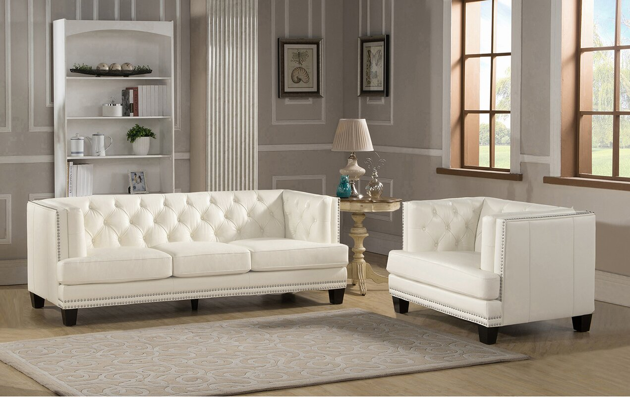 Amax newport 2 piece leather living room set reviews 2 piece leather living room set