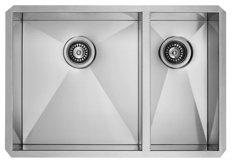 29 inch undermount 70 30 double bowl 16 gauge stainless steel kitchen sink 29 inch undermount 70 30 double bowl 16 gauge stainless steel      rh   jossandmain com
