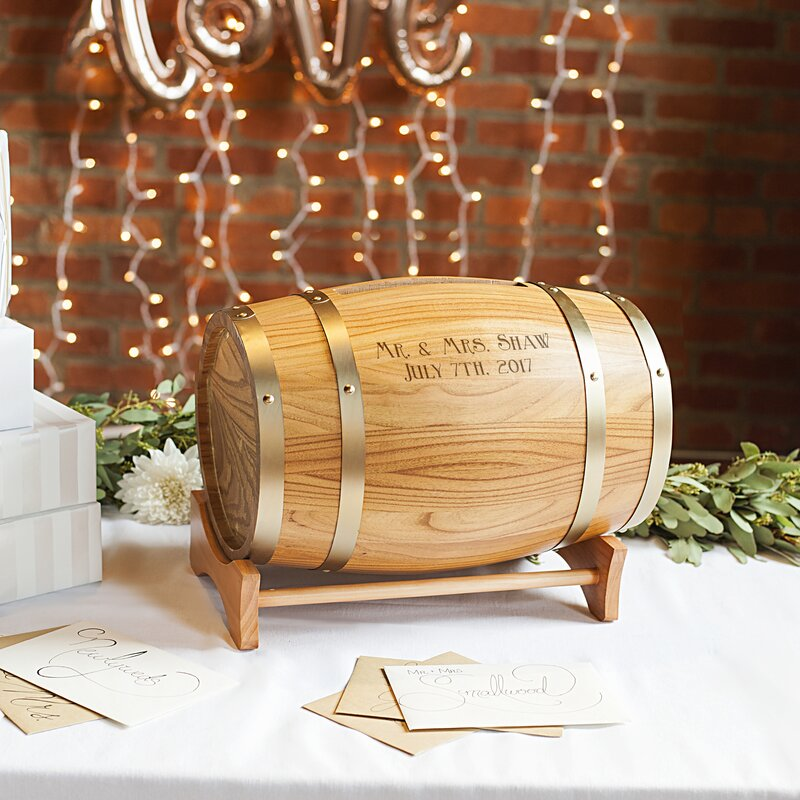 Cathys concepts personalized wine barrel reception gift card personalized wine barrel reception gift card holder negle Gallery