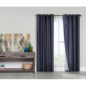 Healdville Striped Room Darkening Grommet Single Curtain Panel