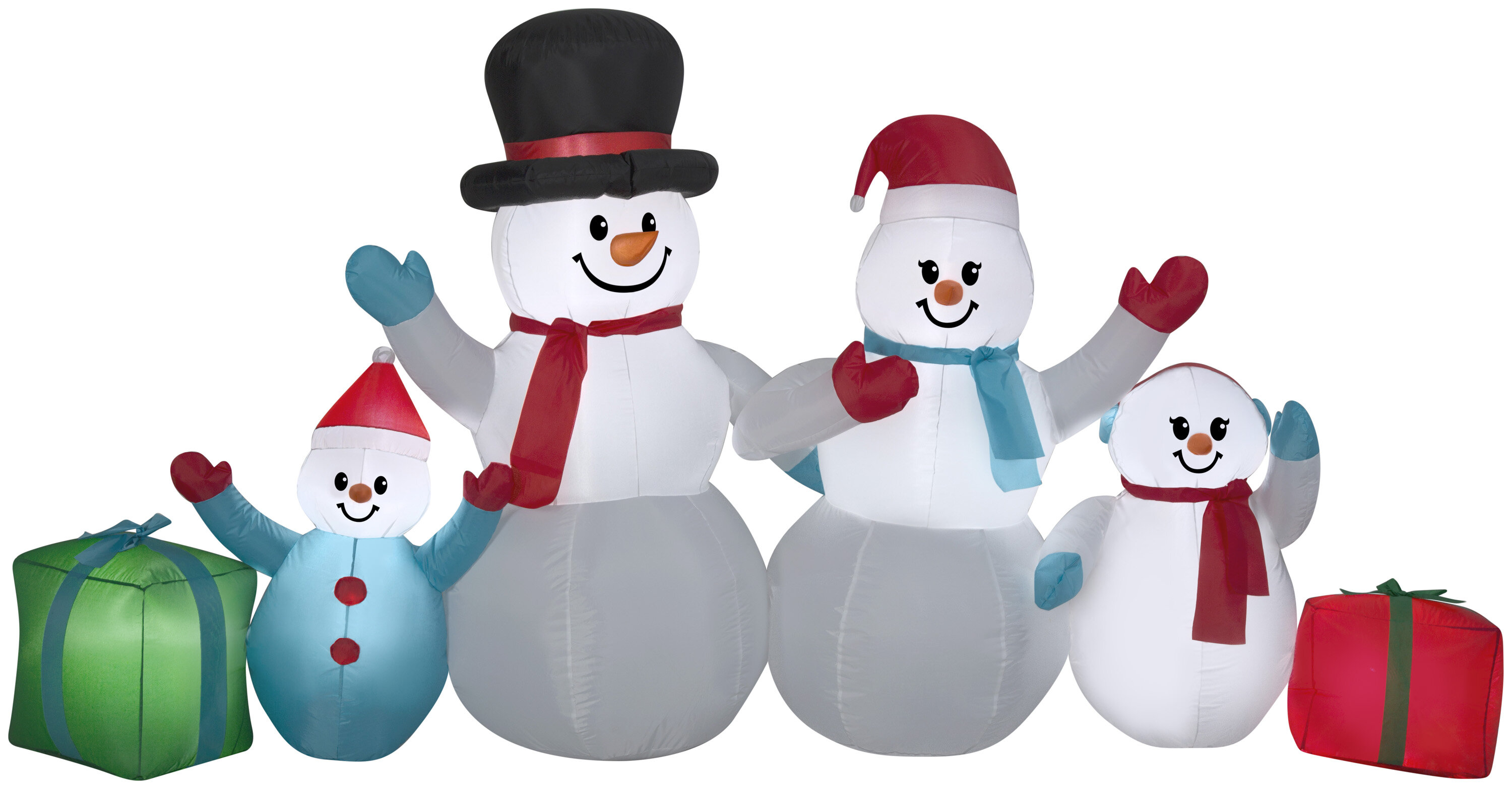 The Holiday Aisle Airblown 6 Piece Winter Snowman Collection Scene ...