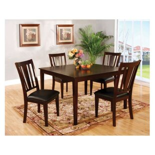Moser Transitional Style 5 Piece Solid Wood Dining Set