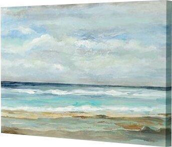 Three Posts 'Seashore' Print Size: 10 H x 15 W x 1.5 D, Format: Canvas