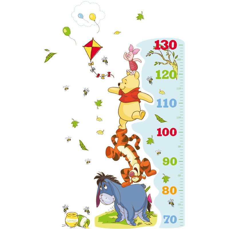 disney wandtattoo winnie the pooh growth chart. Black Bedroom Furniture Sets. Home Design Ideas