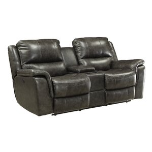 Bolander Leather Reclining Loveseat by Red B..