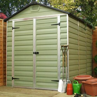 Skylight 6 Ft. W X 8 Ft. D Apex Plastic Shed