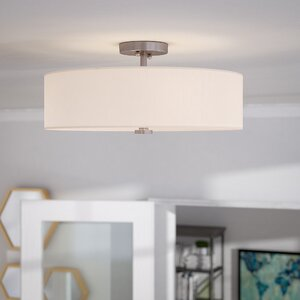 Burgoon 4-Light Semi Flush Mount