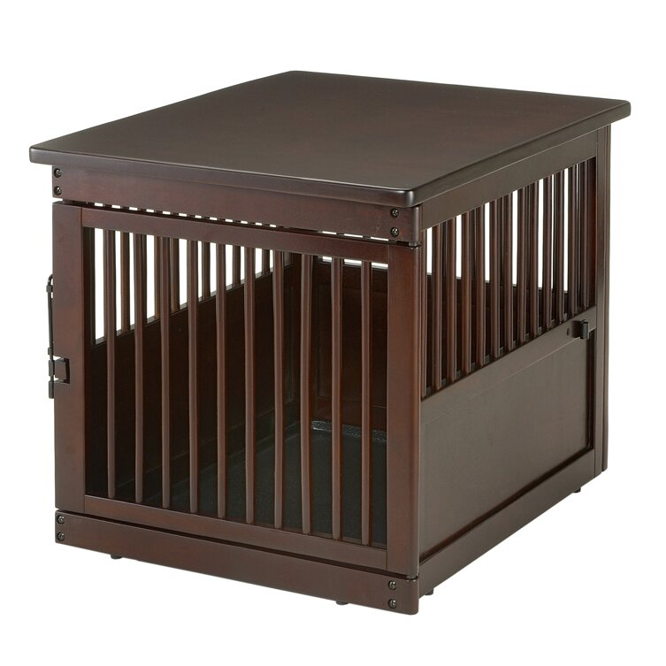 Lovely Wooden End Table Pet Crate