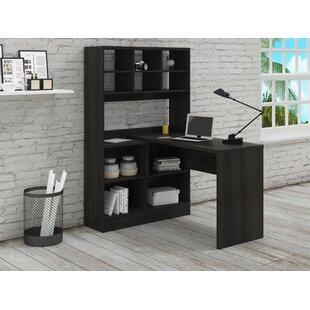 Yeadon L Shape Writing Desk With Hutch