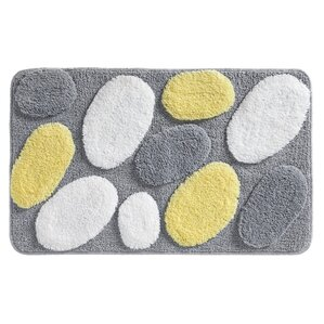 Pebblz Bath Rug. Brown. Brown. Yellow/Gray