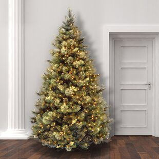 Green Pine Artificial Christmas Tree With 650 Clear White Lights