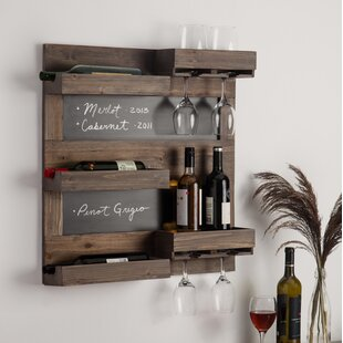 Maxson 5 Bottle Wall Mounted Wine Rack