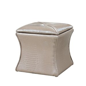 Randle Croc Leather Storage Ottoman by Mercer41