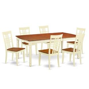 Parkridge 7 Piece Extendable Solid Wood Dining Set