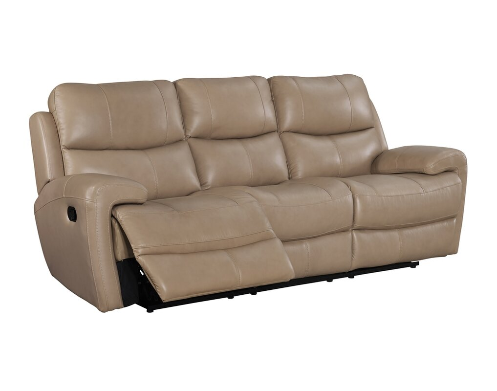 Superior Defazio Leather Power Reclining Sofa
