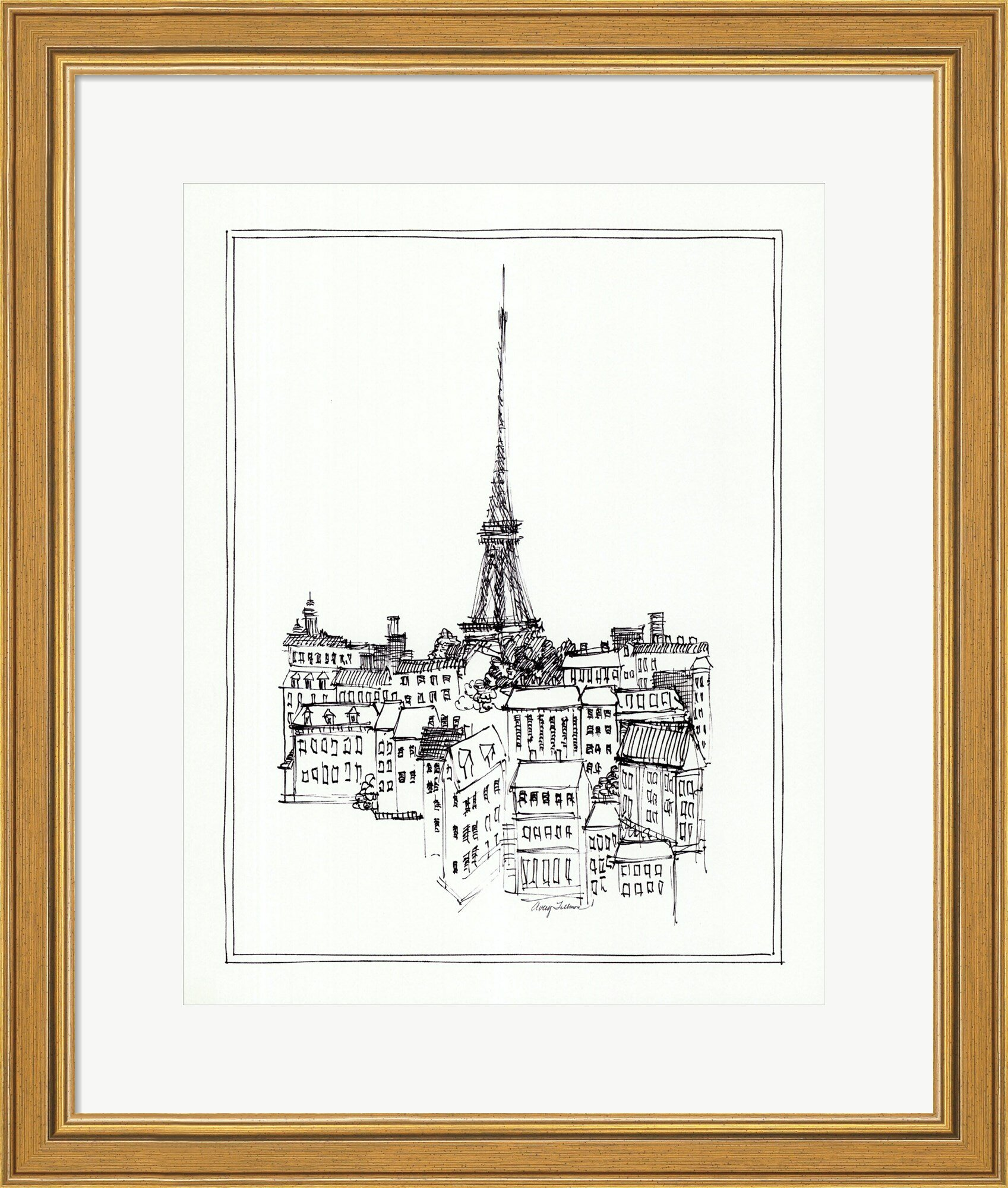 Eiffel tower framed graphic art print reviews joss main eiffel tower framed graphic art print reviews joss main jeuxipadfo Images