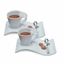 New Wave Caffe Espresso Set (Set of 2)