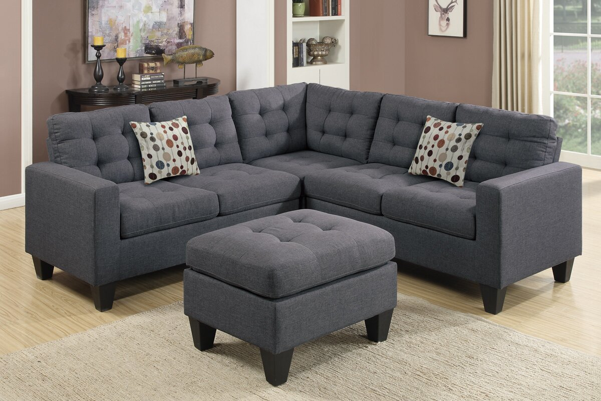 Pawnee Modular Sectional with Ottoman : sectional ottoman - Sectionals, Sofas & Couches