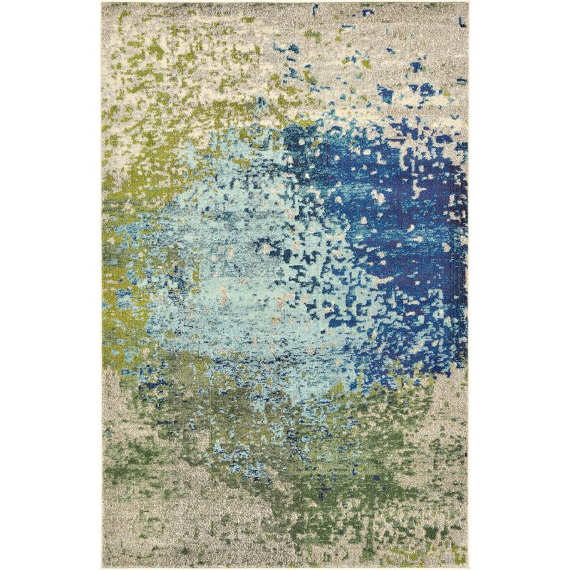 Hayes Loom Synthetic Blue Area Rug