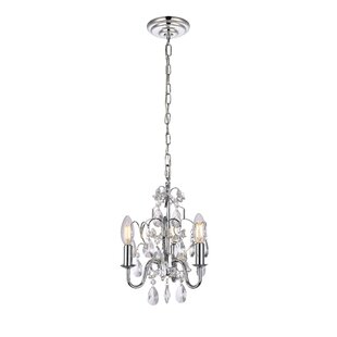 Mini or small chandeliers youll love dagnall 3 light mini chandelier mozeypictures Gallery