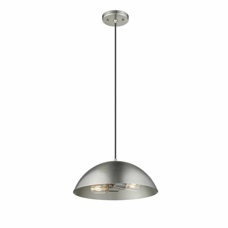 Orren Ellis Gasconade 2-Light Dome Pendant
