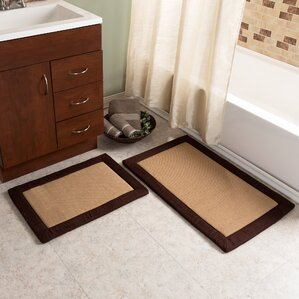bathroom rug sets. 2 Piece Faux Linen Fleece Bath Rug Set Plush Sets You ll Love  Wayfair