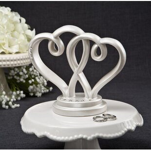 Wedding cake toppers youll love wayfair interlocking hearts centerpiece and cake topper from fashioncraft junglespirit Choice Image