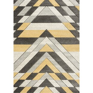 Rosemary Hand Knotted Grey Mustard Rug