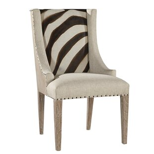 Charmant Zebra Scoop Upholstered Dining Chair