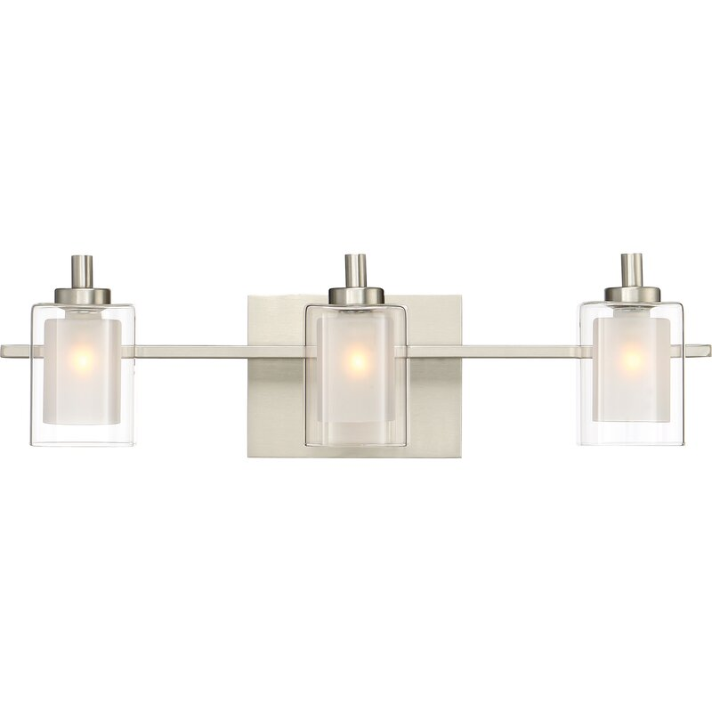 Wade Logan Aldrich 3-Light Vanity light & Reviews | Wayfair