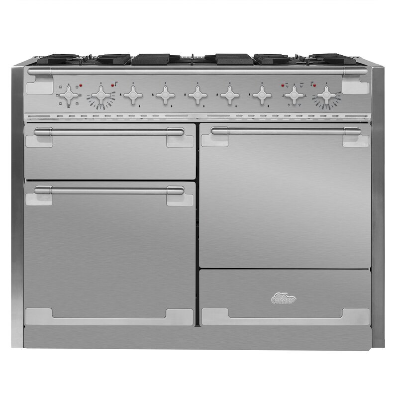 "AGA Elise 48"" Free-Standing Dual Fuel Range  Finish: Stainless Steel"