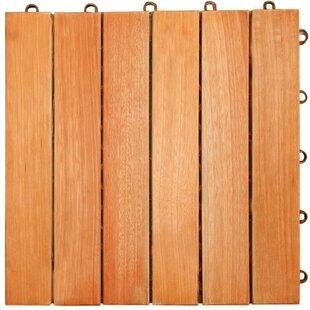 Tryon 12 X Eucalyptus Interlocking Deck Tile In Natural