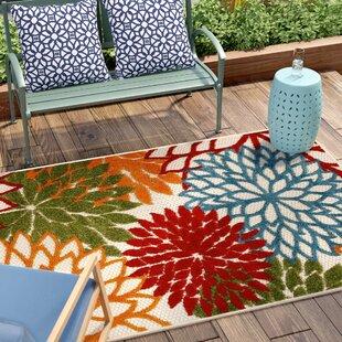 Reuben Red Indoor Outdoor Area Rug