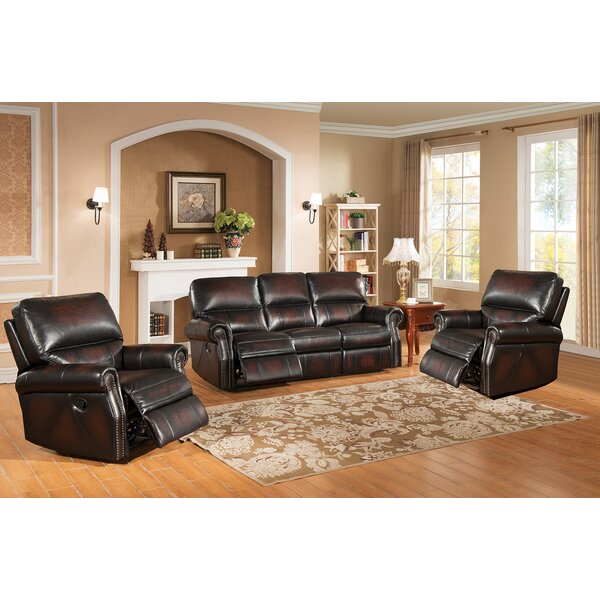 Drummond 3 Piece Living Room Set In: Amax Nevada 3 Piece Leather Living Room Set & Reviews