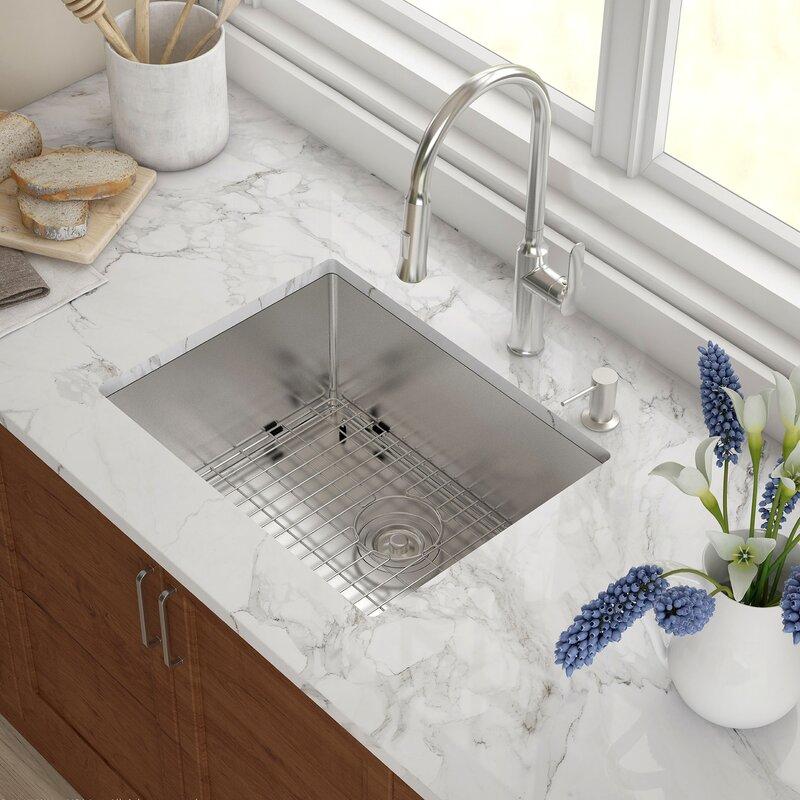 """Kraus 23"""" X 18"""" Undermount Kitchen Sink & Reviews"""