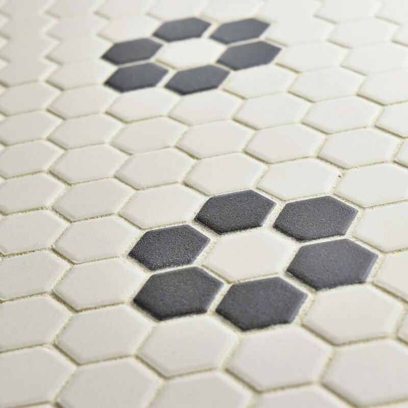 Elitetile New York Hexagon 0875 X 0875 Porcelain Unglazed Mosaic
