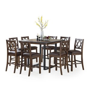 Rayner 9 Piece Counter Height Dining Set Fresh
