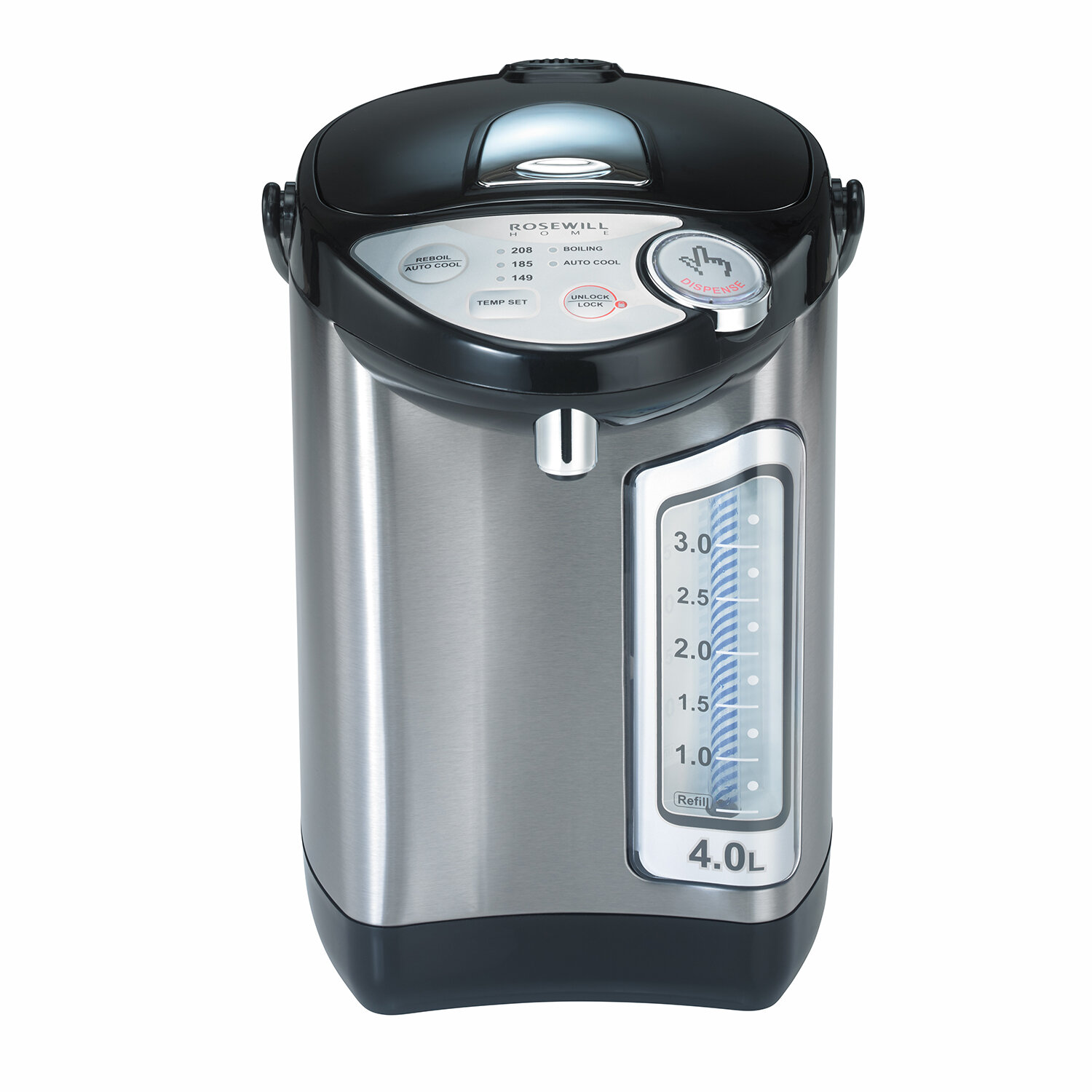 Rosewill 4.2-qt. Stainless Steel Water Boiler and Warmer with Auto ...