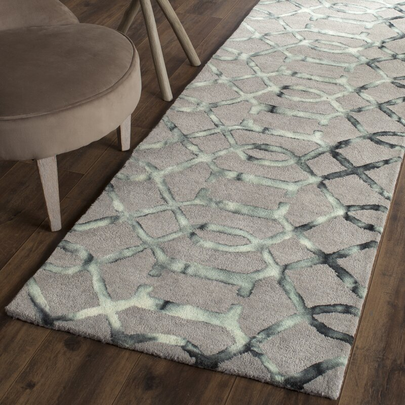 Charming Kinder Hand Tufted Gray/Charcoal Wool Area Rug