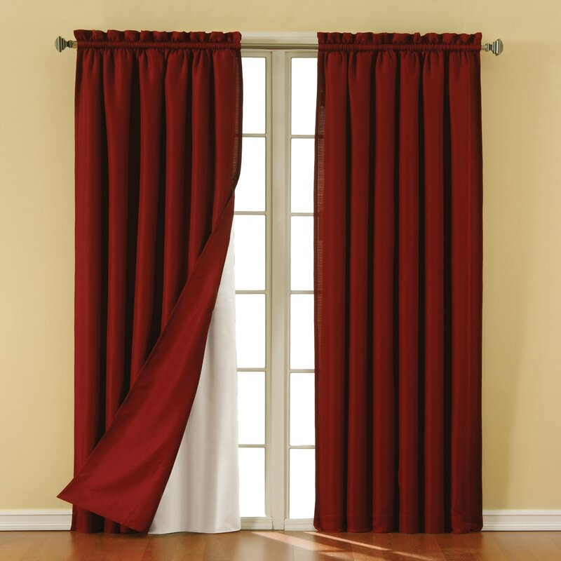 eclipse curtains solid blackout rod pocket curtain panel & reviews
