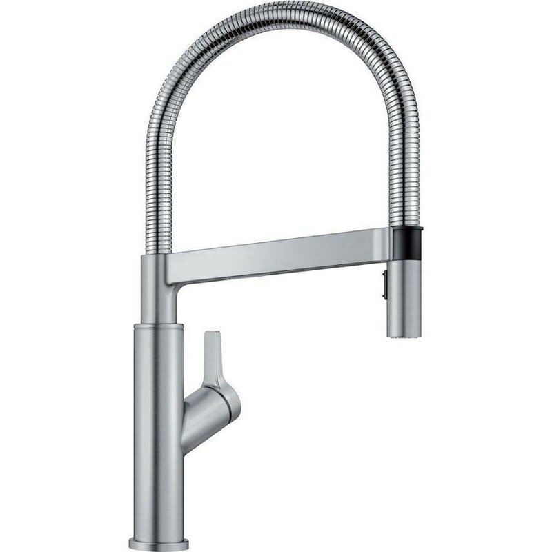 Blanco Solenta Senso Touch Single Handle Kitchen Faucet  Finish: Stainless
