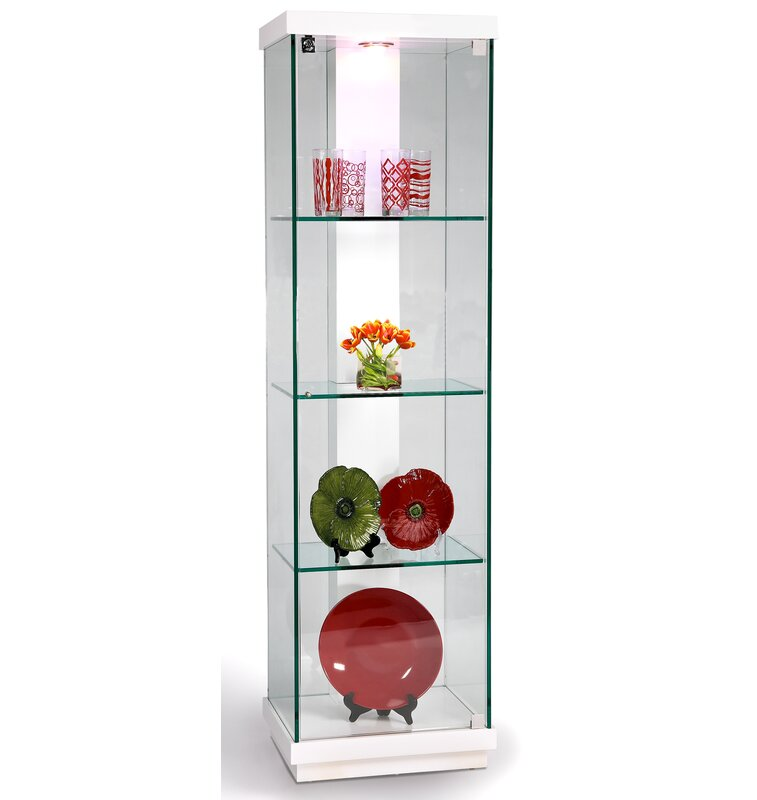 Charmant Lighted Curio Cabinet