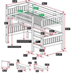 Gabriel Full Loft Bed by E..