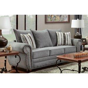 Conradine Platinum Stripe Sofa