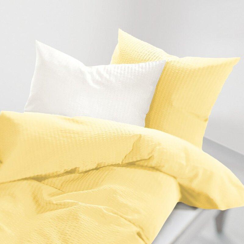 schlafgut seersucker bettw sche uni soft bewertungen. Black Bedroom Furniture Sets. Home Design Ideas