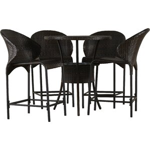 5 Piece Alexi Patio Pub Set