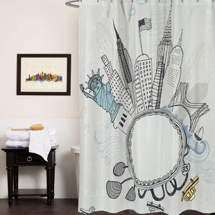 Fun New York City Print Shower Curtain