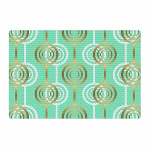 SusanaPaz Circles Digital Green/Gold Area Rug