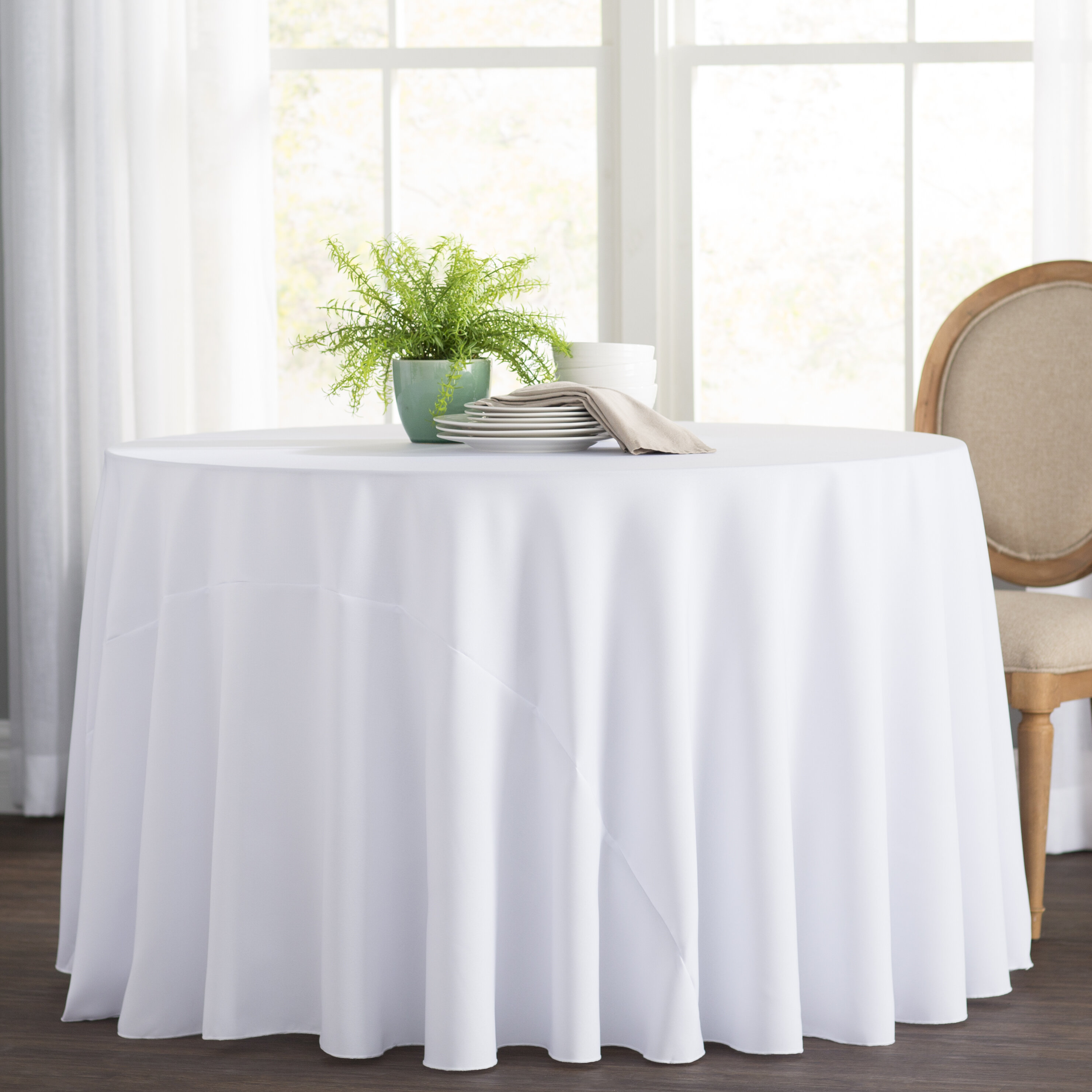 Charmant 42 Inch Round Tablecloth | Wayfair