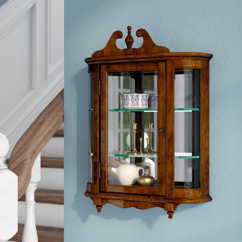 Awesome Bedingfield Wall Mounted Curio Cabinet